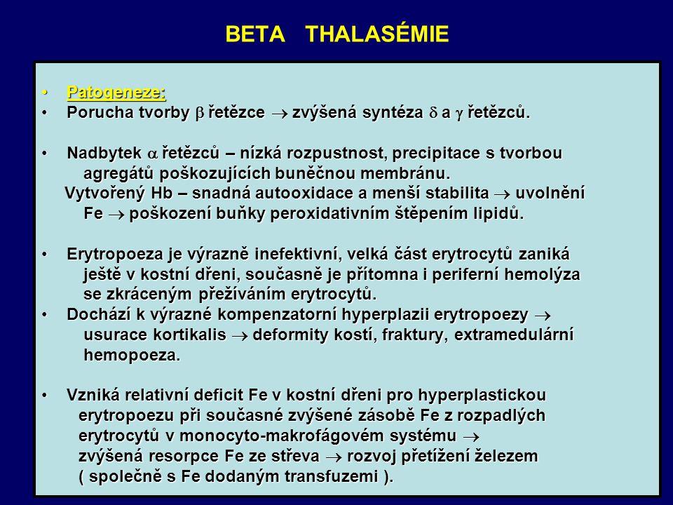 BETA THALASÉMIE Patogeneze:
