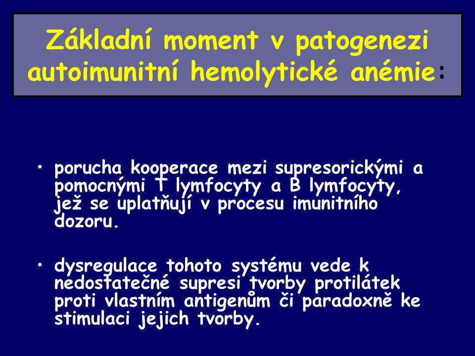 Základní moment v patogenezi autoimunitní hemolytické anémie: