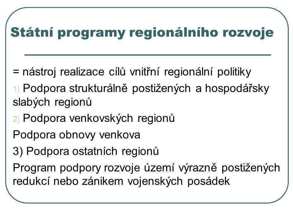 Státní programy regionálního rozvoje
