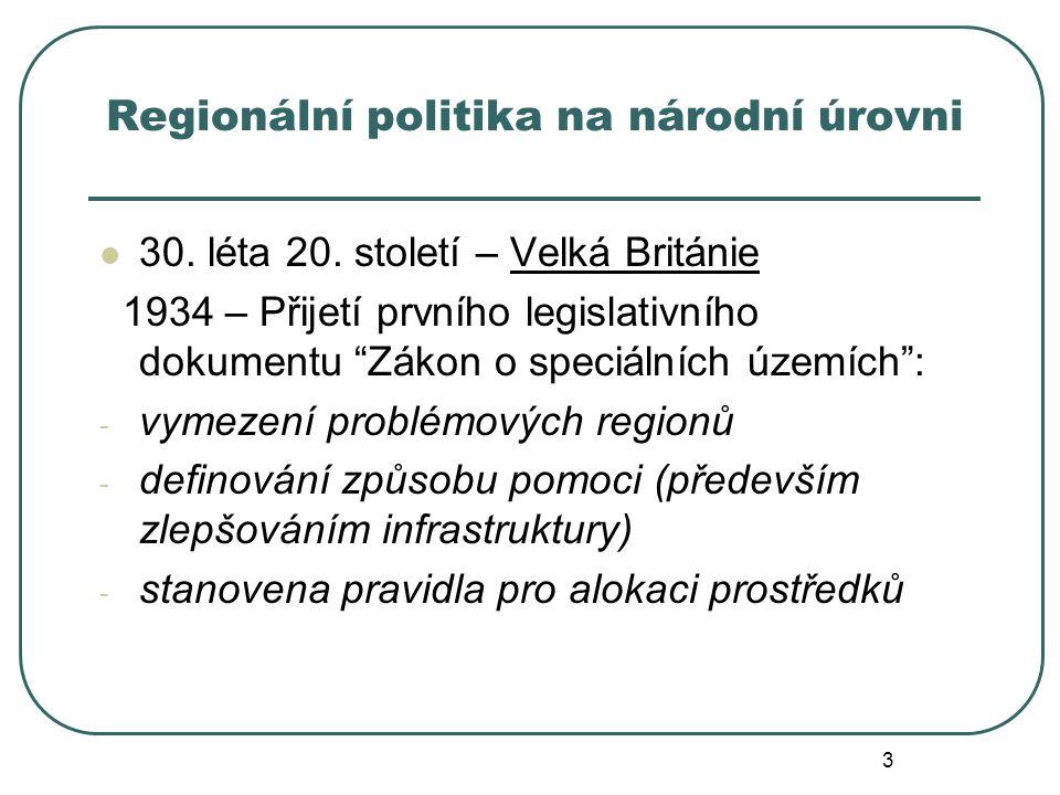 Regionální politika na národní úrovni
