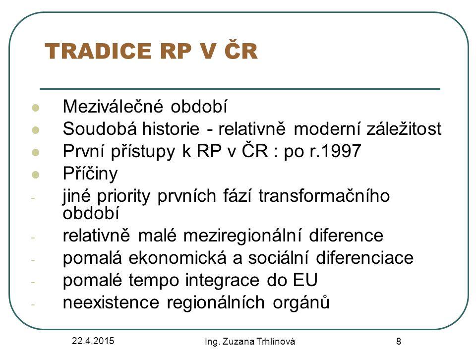 TRADICE RP V ČR Meziválečné období