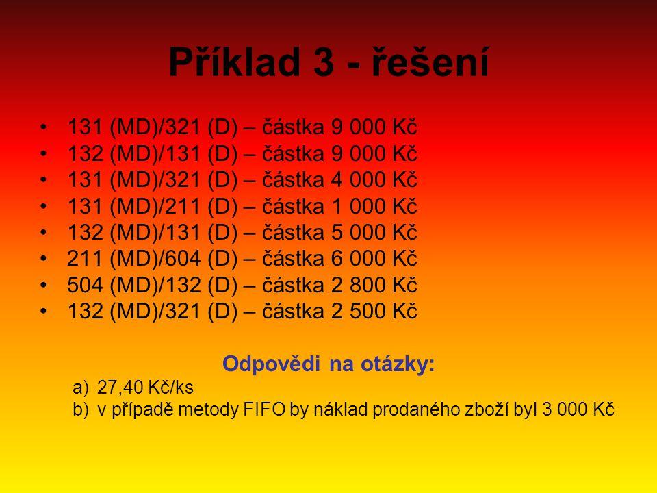 Příklad 3 - řešení 131 (MD)/321 (D) – částka 9 000 Kč