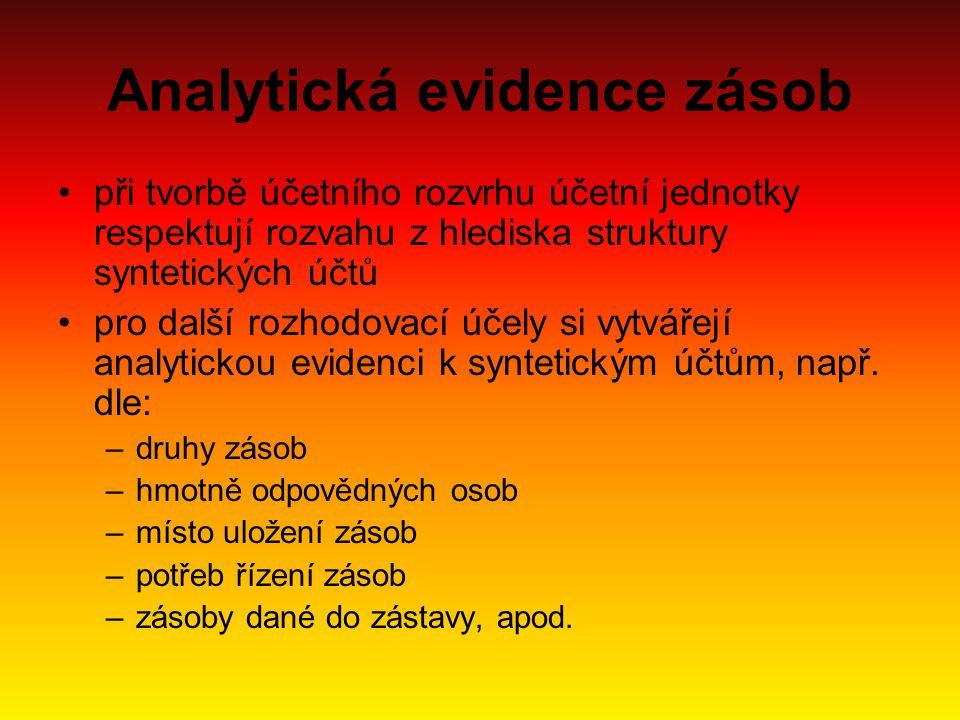 Analytická evidence zásob
