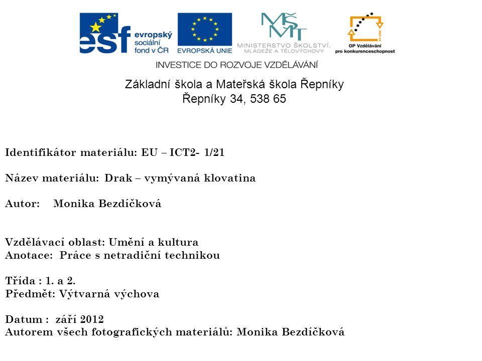 Základní škola a Mateřská škola Řepníky