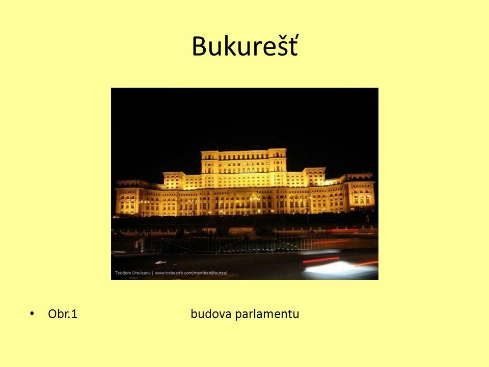 Bukurešť Obr.1 budova parlamentu