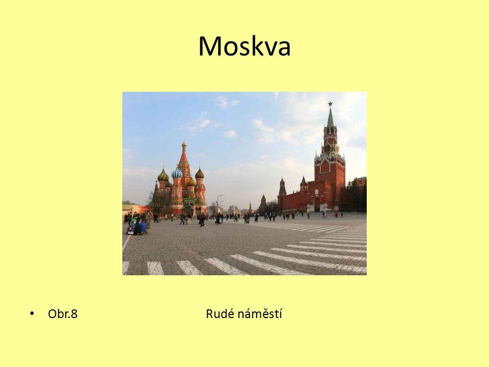 Moskva Obr.8 Rudé náměstí