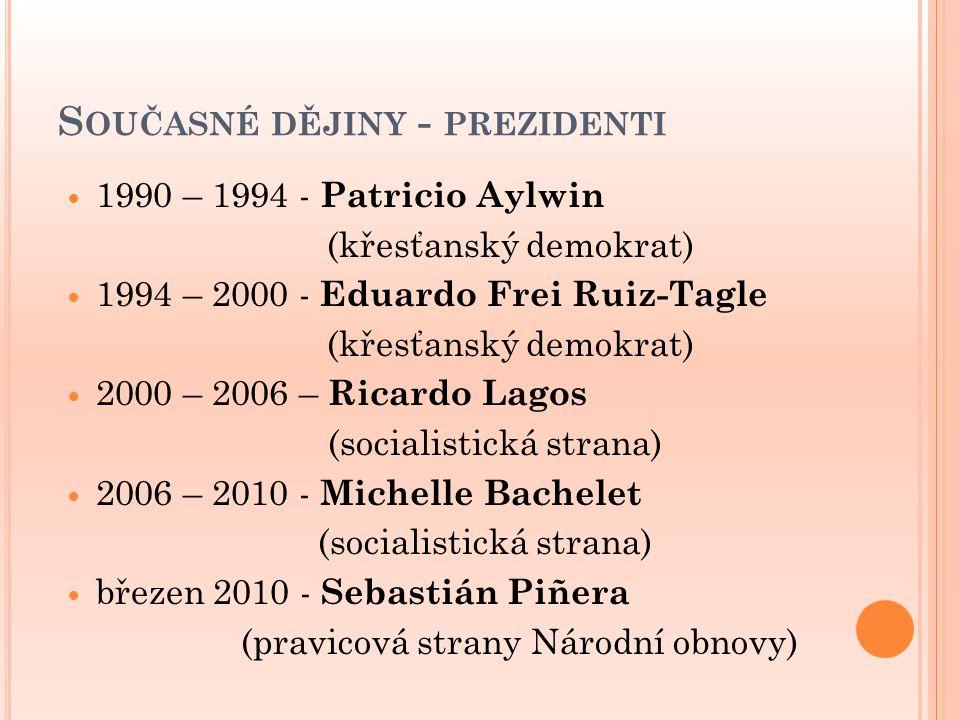 Současné dějiny - prezidenti