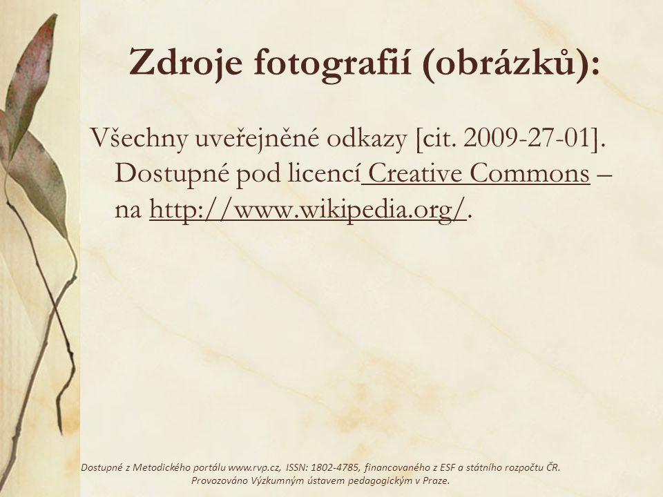 Zdroje fotografií (obrázků):