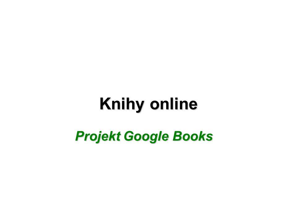 Knihy online Projekt Google Books