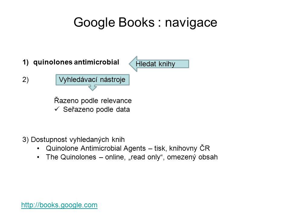 Google Books : navigace