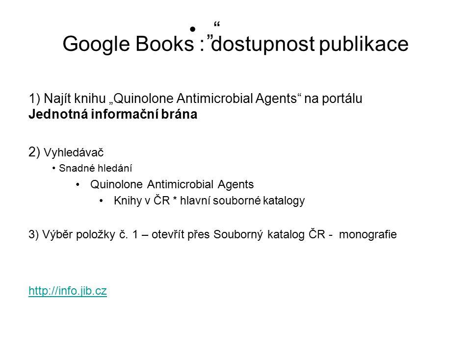 Google Books : dostupnost publikace