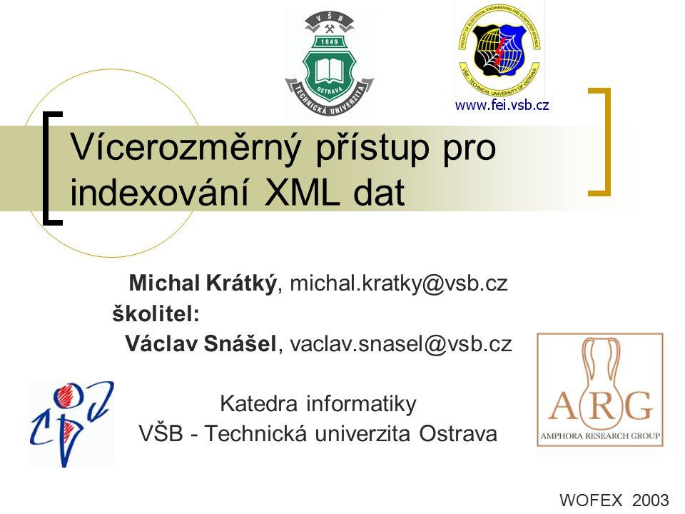 Vícerozměrný přístup pro indexování XML dat
