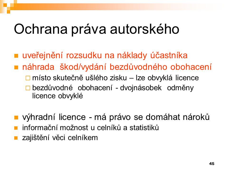 Ochrana práva autorského