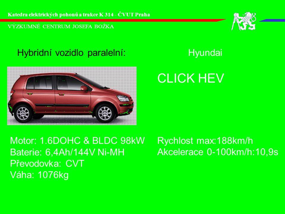 CLICK HEV Hybridní vozidlo paralelní: Hyundai