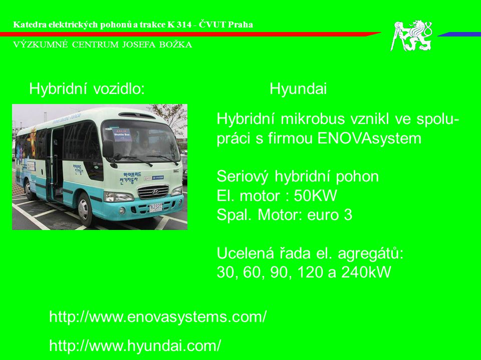 Hybridní vozidlo: Hyundai