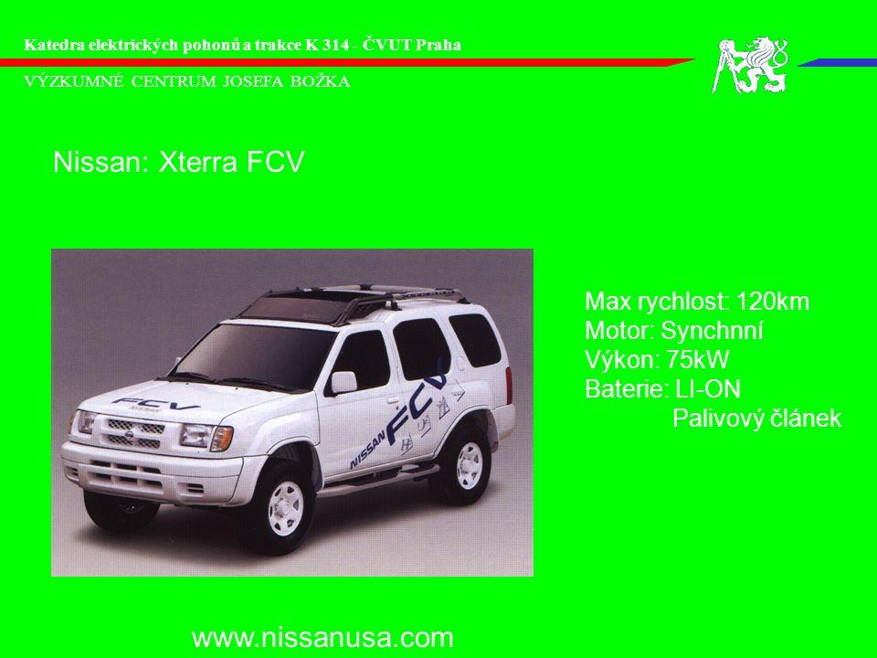 Nissan: Xterra FCV www.nissanusa.com Max rychlost: 120km
