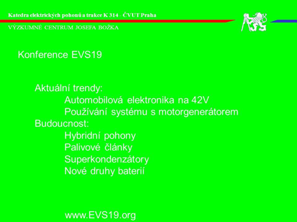 Automobilová elektronika na 42V Používání systému s motorgenerátorem