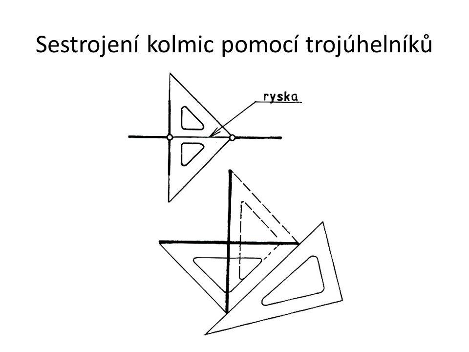 Sestrojení kolmic pomocí trojúhelníků
