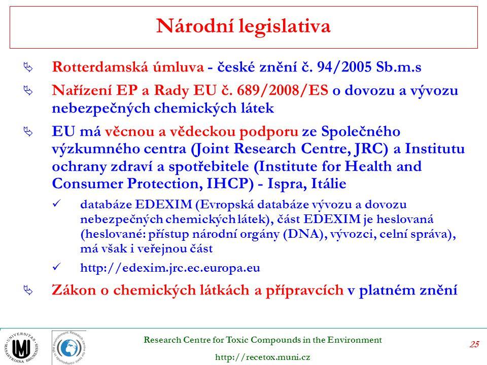 Národní legislativa Rotterdamská úmluva - české znění č. 94/2005 Sb.m.s.