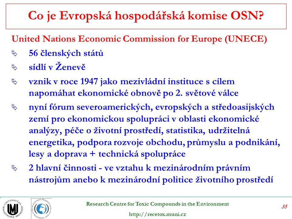 Co je Evropská hospodářská komise OSN