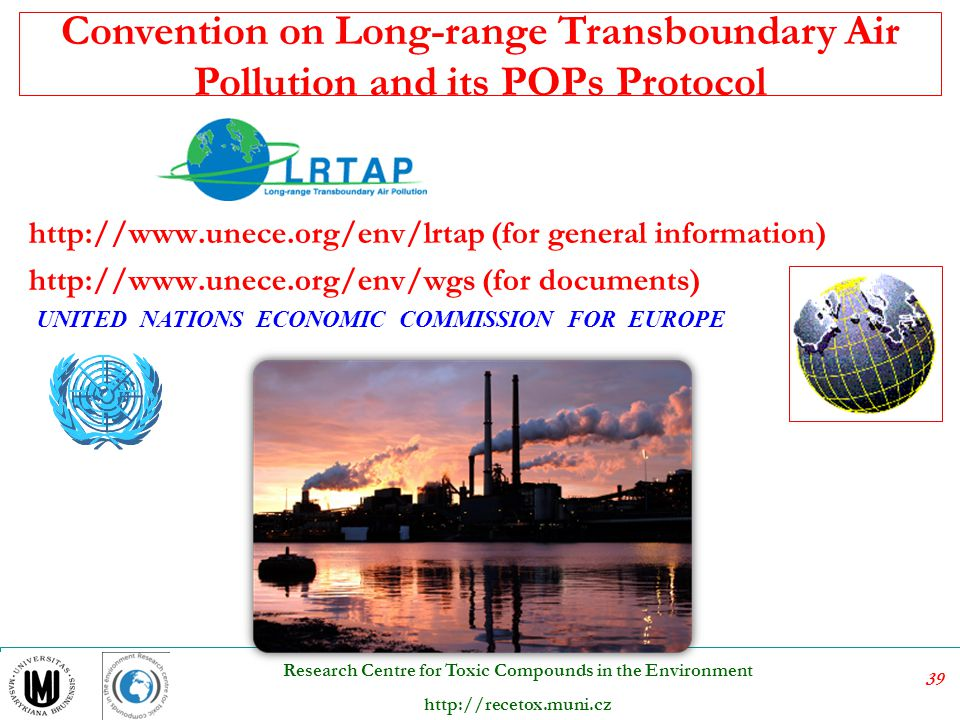 Convention on Long-range Transboundary Air Pollution and its POPs Protocol