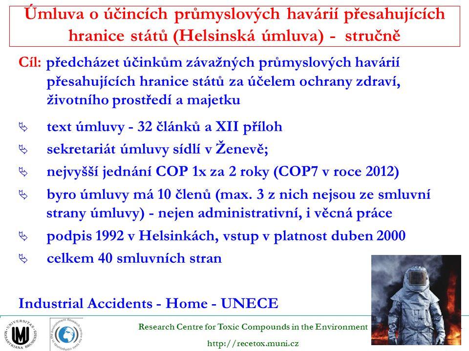Úmluva o účincích průmyslových havárií přesahujících hranice států (Helsinská úmluva) - stručně