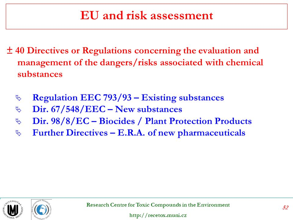 EU and risk assessment
