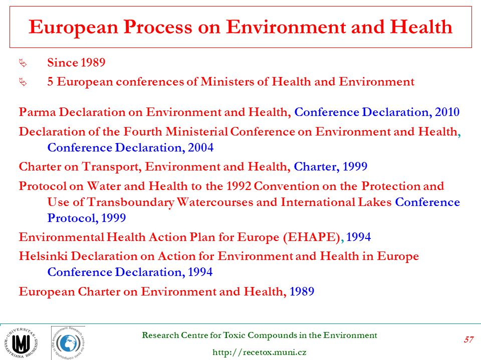 European Process on Environment and Health