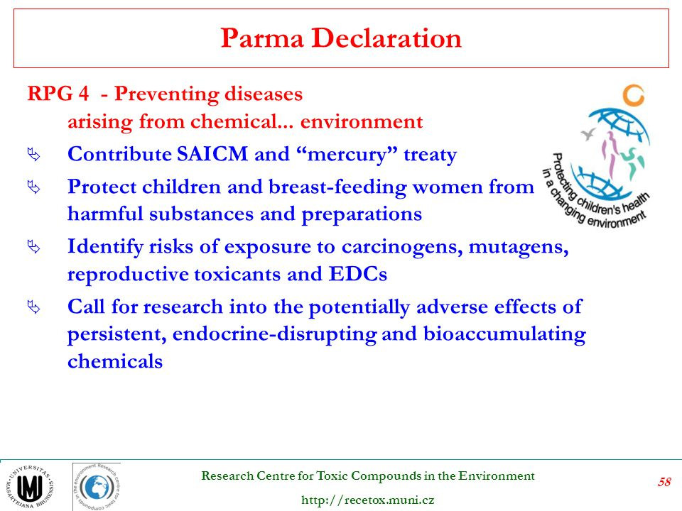 Parma Declaration RPG 4 - Preventing diseases