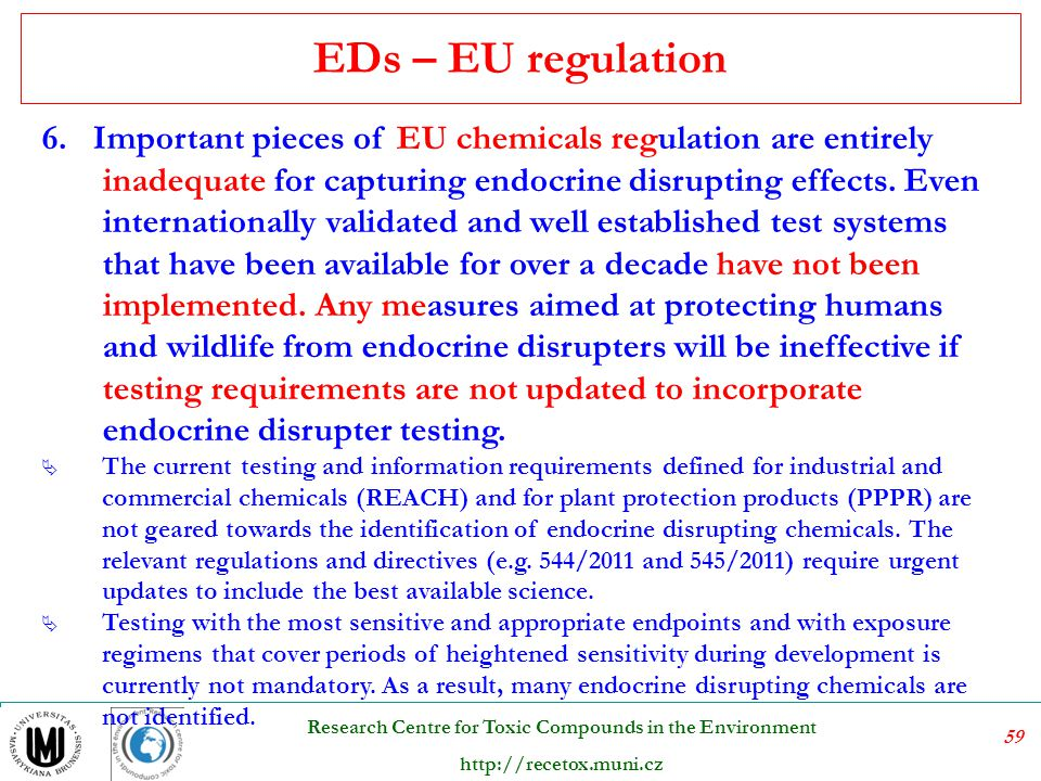 EDs – EU regulation