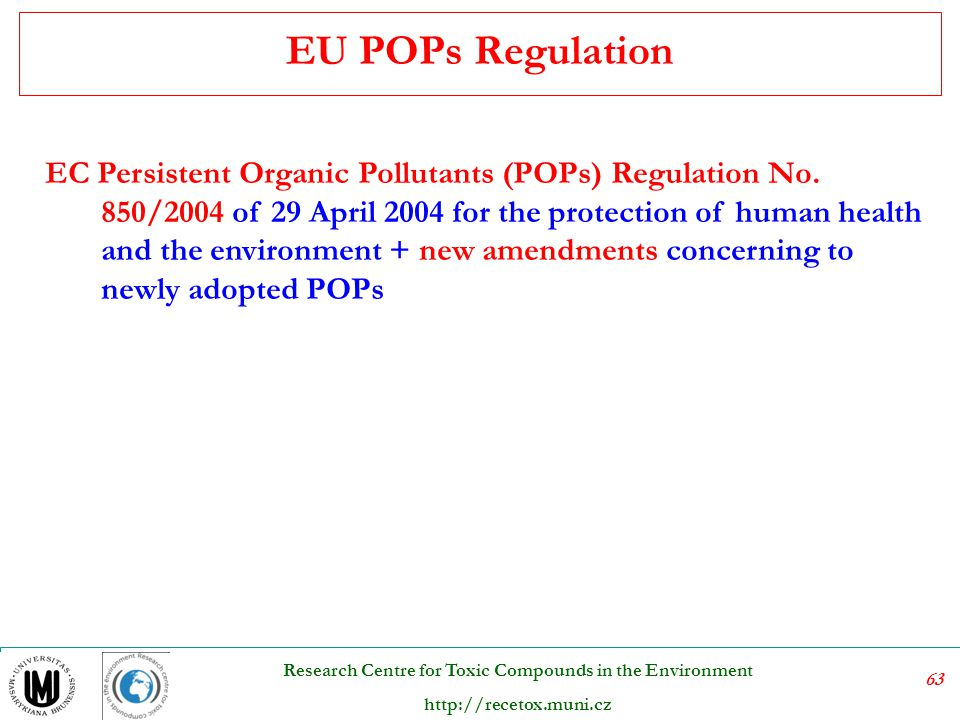EU POPs Regulation