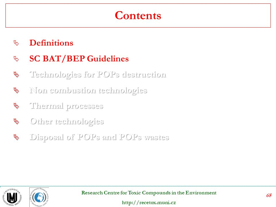 Contents Definitions SC BAT/BEP Guidelines