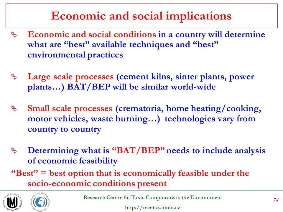Economic and social implications
