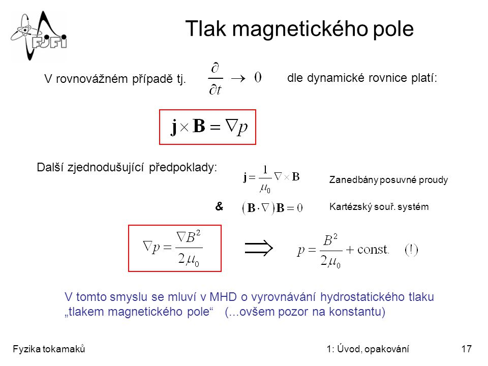 Tlak magnetického pole