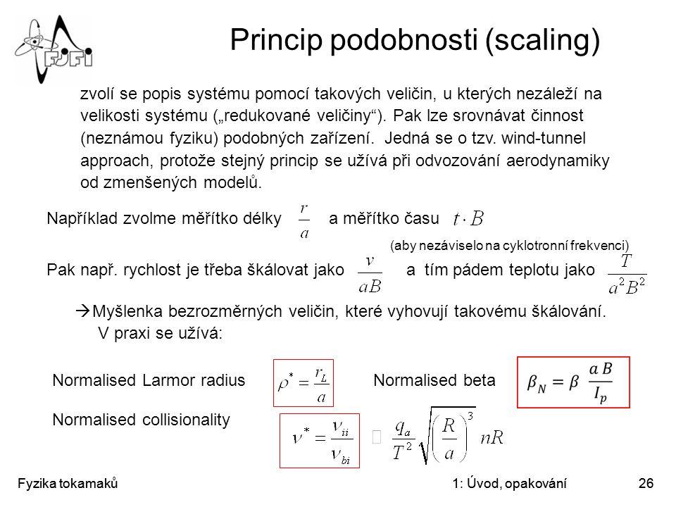 Princip podobnosti (scaling)