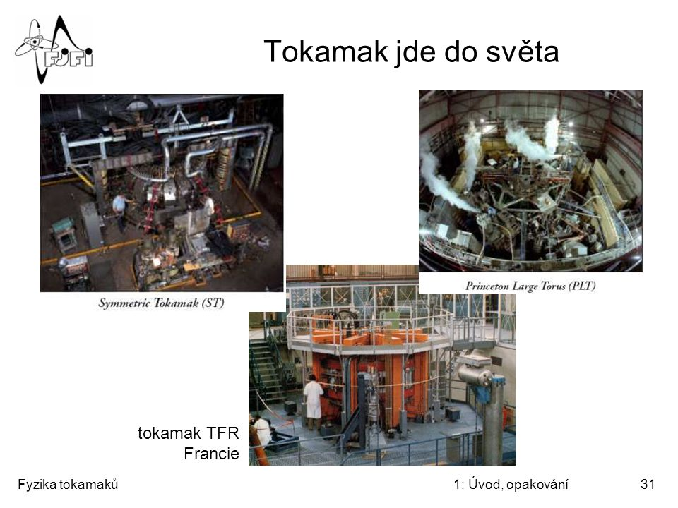 Tokamak jde do světa tokamak TFR Francie Fyzika tokamaků