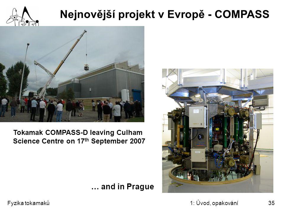 Nejnovější projekt v Evropě - COMPASS