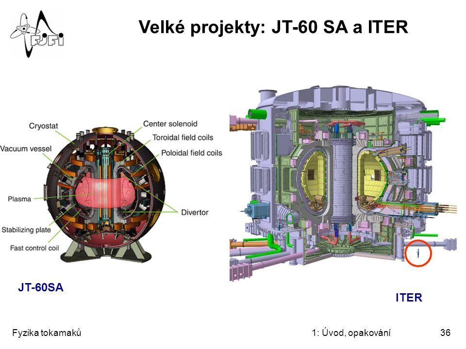 Velké projekty: JT-60 SA a ITER