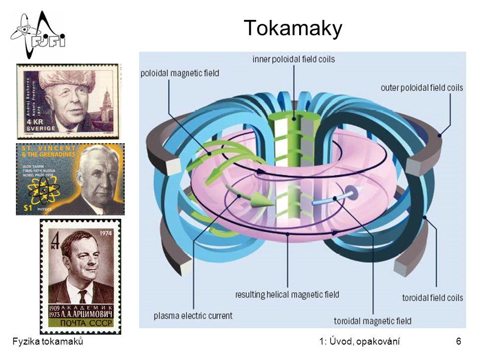 "Tokamaky ""TOroidalnaja KAtushka i MAgnitnij toK Fyzika tokamaků"