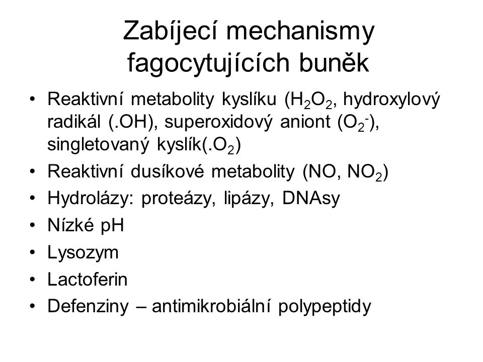 Zabíjecí mechanismy fagocytujících buněk