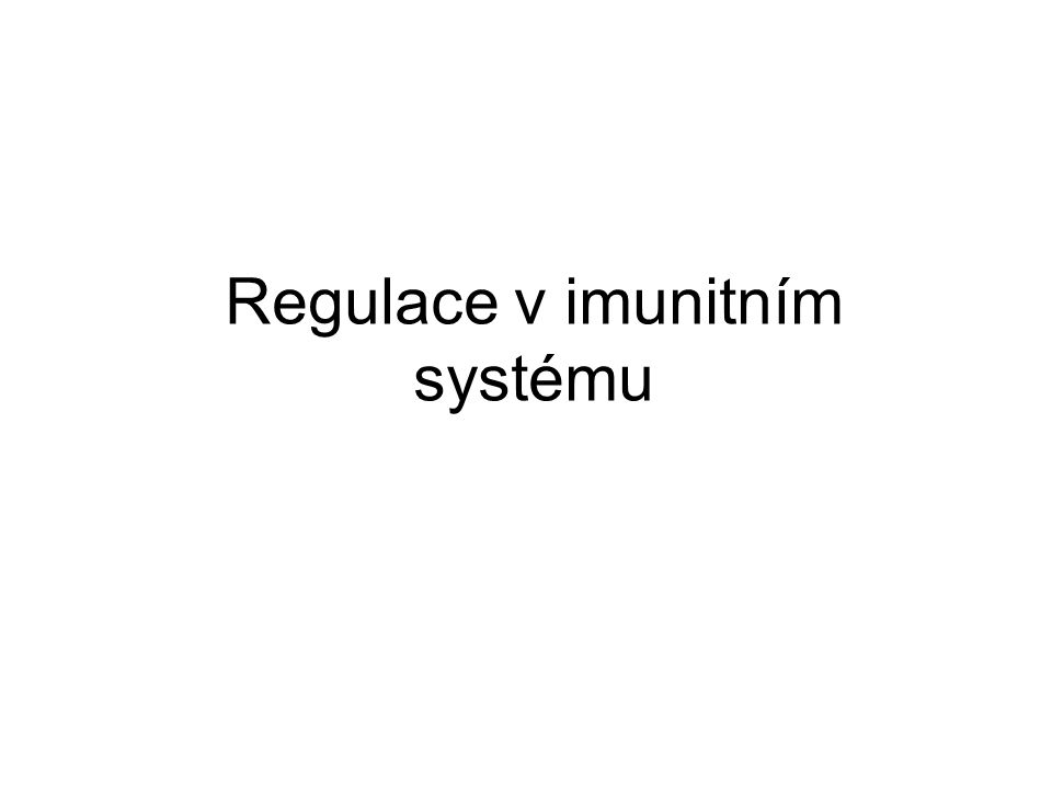 Regulace v imunitním systému
