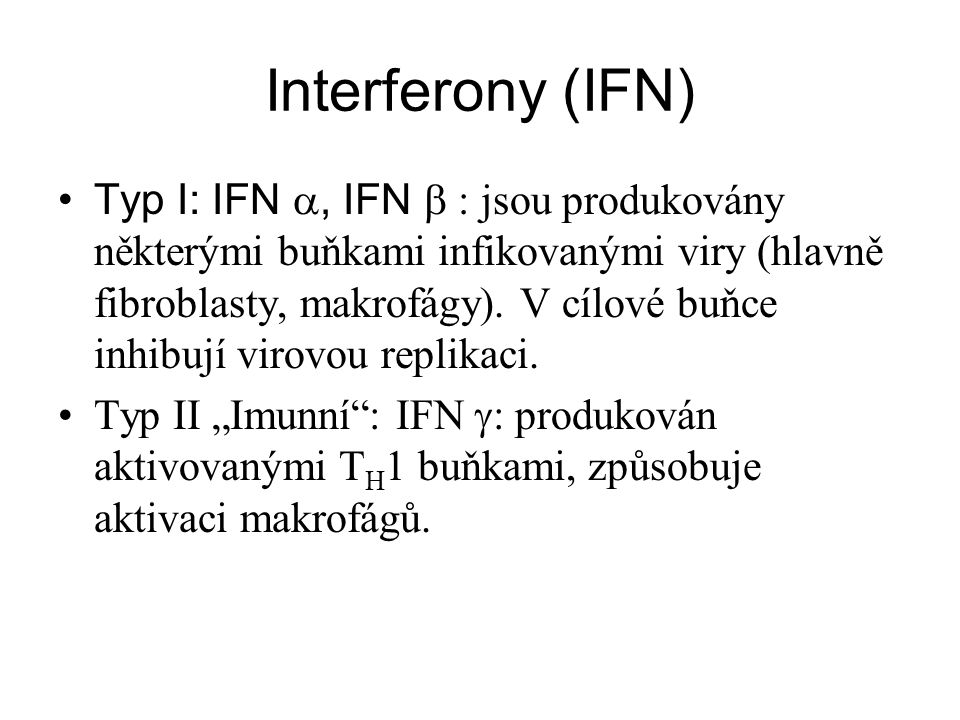 Interferony (IFN)