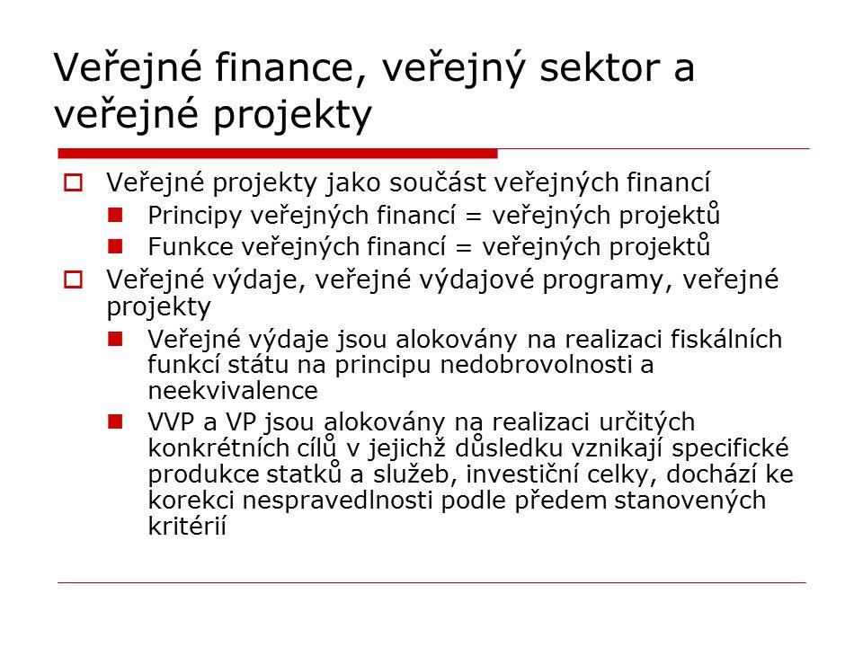 Veřejné finance, veřejný sektor a veřejné projekty