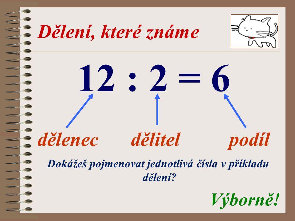 Dokážeš pojmenovat jednotlivá čísla v příkladu