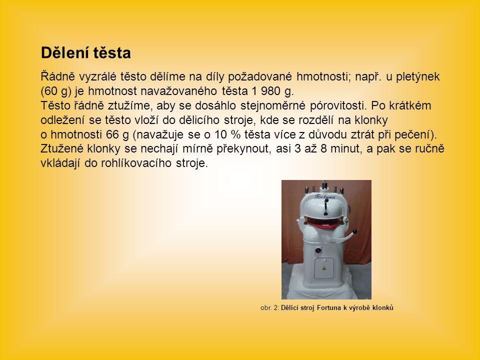 obr. 2: Dělicí stroj Fortuna k výrobě klonků