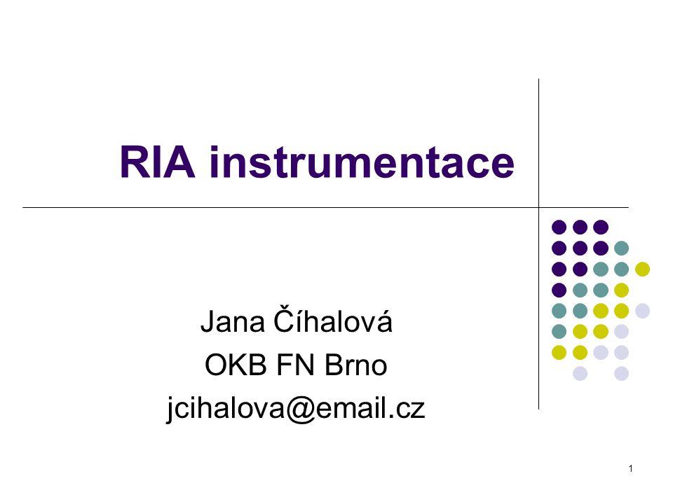 Jana Číhalová OKB FN Brno jcihalova@email.cz
