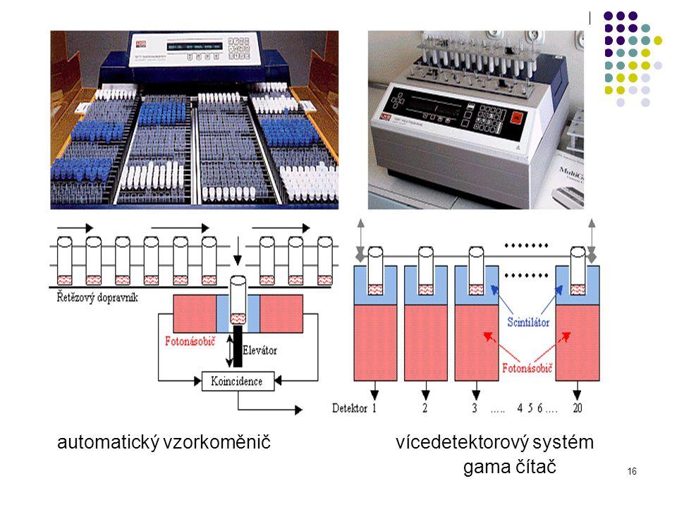 automatický vzorkoměnič vícedetektorový systém