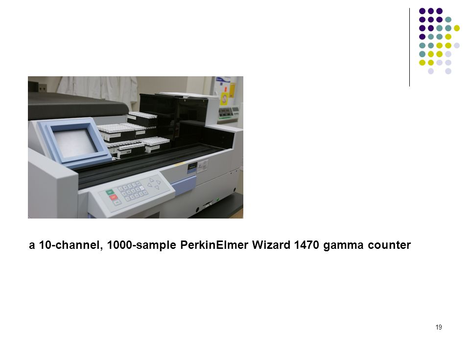 a 10-channel, 1000-sample PerkinElmer Wizard 1470 gamma counter
