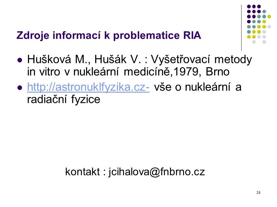 Zdroje informací k problematice RIA