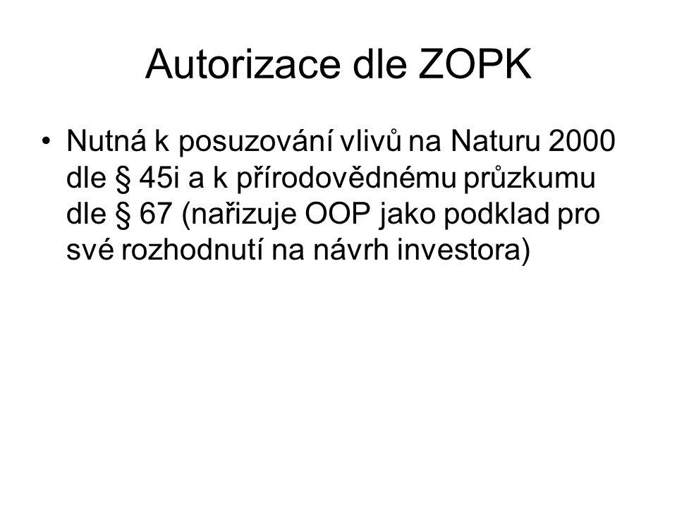 Autorizace dle ZOPK